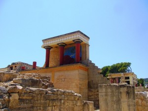 Knosos palace in Crete